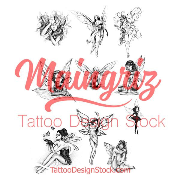 original fairies tattoo design high resolution download