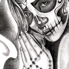 Load image into Gallery viewer, original catrina tattoo design digital download by tattoo artists