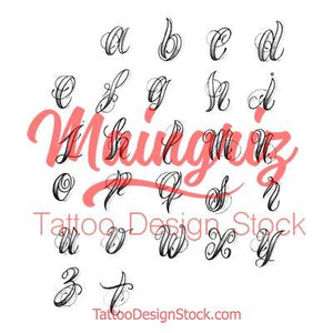 chicano alphabet lower case tattoo design high resolution download