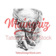 Load image into Gallery viewer, chicano angel tattoo design high resolution download