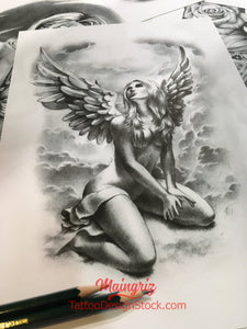 chicano angel tattoo design high resolution download