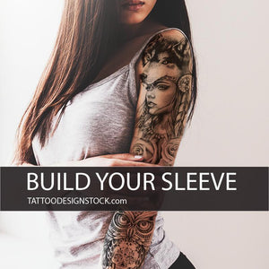 native american sleeve tattoo in high resolution download