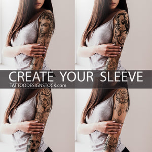 amazing custom sleeve tattoo designs in high resolution download