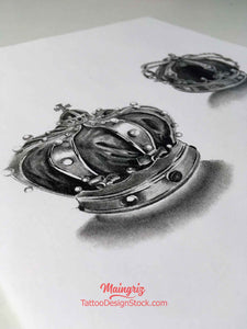 crown tattoo design for chicano sleeve