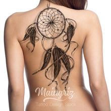 Load image into Gallery viewer, Dreamcatcher tattoo design digital download with high resolution