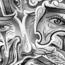 Load image into Gallery viewer, eyes chicano tattoo design digital download by tattoo artist