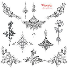 Load image into Gallery viewer, Mandala under boob and side boob tattoo designs high resolution download