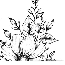 Load image into Gallery viewer, Half sleeve oriental flowers tattoo design high resolution download