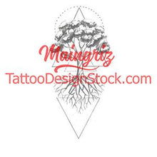 Load image into Gallery viewer, geometric tree of life tattoo design