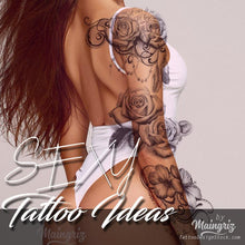Load image into Gallery viewer, selection fo hundreds amazing sexy tattoos for girls in instant download