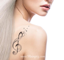 Load image into Gallery viewer, treble clef tattoo design digital donwload