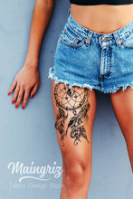 Load image into Gallery viewer, Dreamcatcher download tattoo design