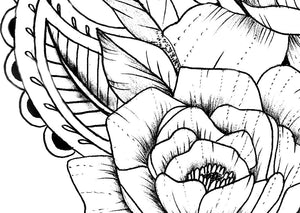 Rose linework - download tattoo design #4
