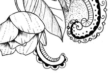 Load image into Gallery viewer, Rose linework - download tattoo design #4