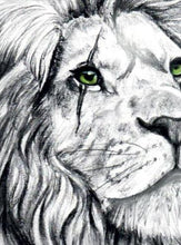 Load image into Gallery viewer, Realistic lion and owl tattoo design high resolution download