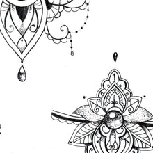 Load image into Gallery viewer,  Mandala forearm wrist tattoo design for half sleeve tattoo for woman