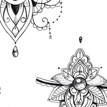 Load image into Gallery viewer, Mandala forearm wrist tattoo design high resolution download