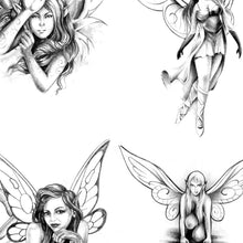 Load image into Gallery viewer, original fairies tattoo design high resolution download