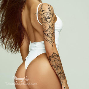 amazing sexy sleeve tattoo for woman