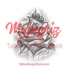Load image into Gallery viewer, rose illuminati tattoo design digital download by tattoo artists
