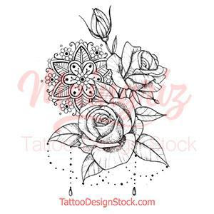 roses and pearls tattoo designs references