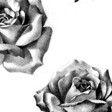 Load image into Gallery viewer, 5 realistic roses digital tattoo designs in black and grey style