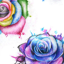 Load image into Gallery viewer, 5 Roses watercolor digital tattoo design references