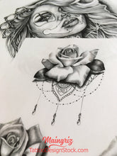 Load image into Gallery viewer, 100 Roses tattoo idea ebook with tattoo design references in high resolution by tattoodesignstock.com