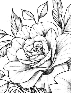 Oriental Roses tattoo design references high resolution download