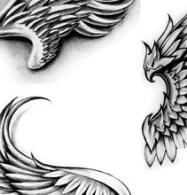Load image into Gallery viewer, realistic wings tattoo design created by tattoodesignstock.com