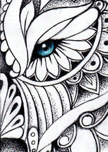 Load image into Gallery viewer, Mandala wolf tattoo design references digital download