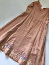 Load image into Gallery viewer, Champagne And Strawberry Dress Size L (12 14)
