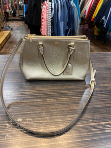 Tory burch gold Leather Handbag