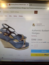 Load image into Gallery viewer, Burberry Wedges Size 9