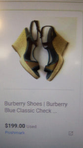 Burberry Wedges Size 9