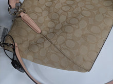 Load image into Gallery viewer, Coach Signature Cloth Handbag Pink Straps