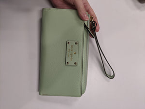 Kate Spade Green Leather Wristlet
