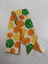 Load image into Gallery viewer, Coach Orange/Green 100% Silk Scarf