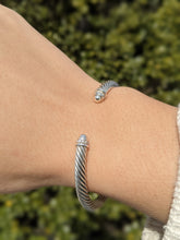 Load image into Gallery viewer, David Yurman Cable Bracelet with Diamonds