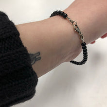 Load image into Gallery viewer, Tiffany & Co. Bracelet with Black Beads