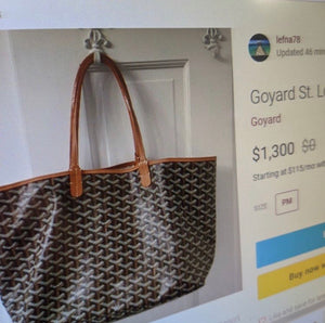 Goyard Leather Tote and Pouch