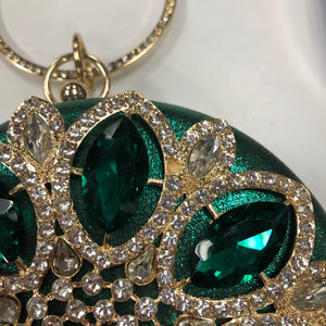 Green crystal Handbag