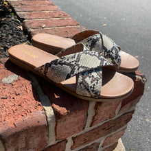 Load image into Gallery viewer, Abound Snakeskin Sandal Size 9