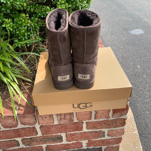 Short Brown Ugg Boots Size 8