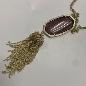 Kendra Scott Clear Purple Necklace