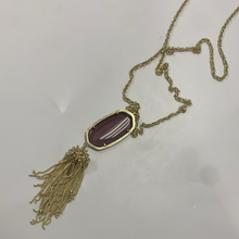 Load image into Gallery viewer, Kendra Scott Clear Purple Necklace