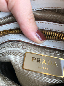 Prada Jacquard Canvas Crossbody Handbag