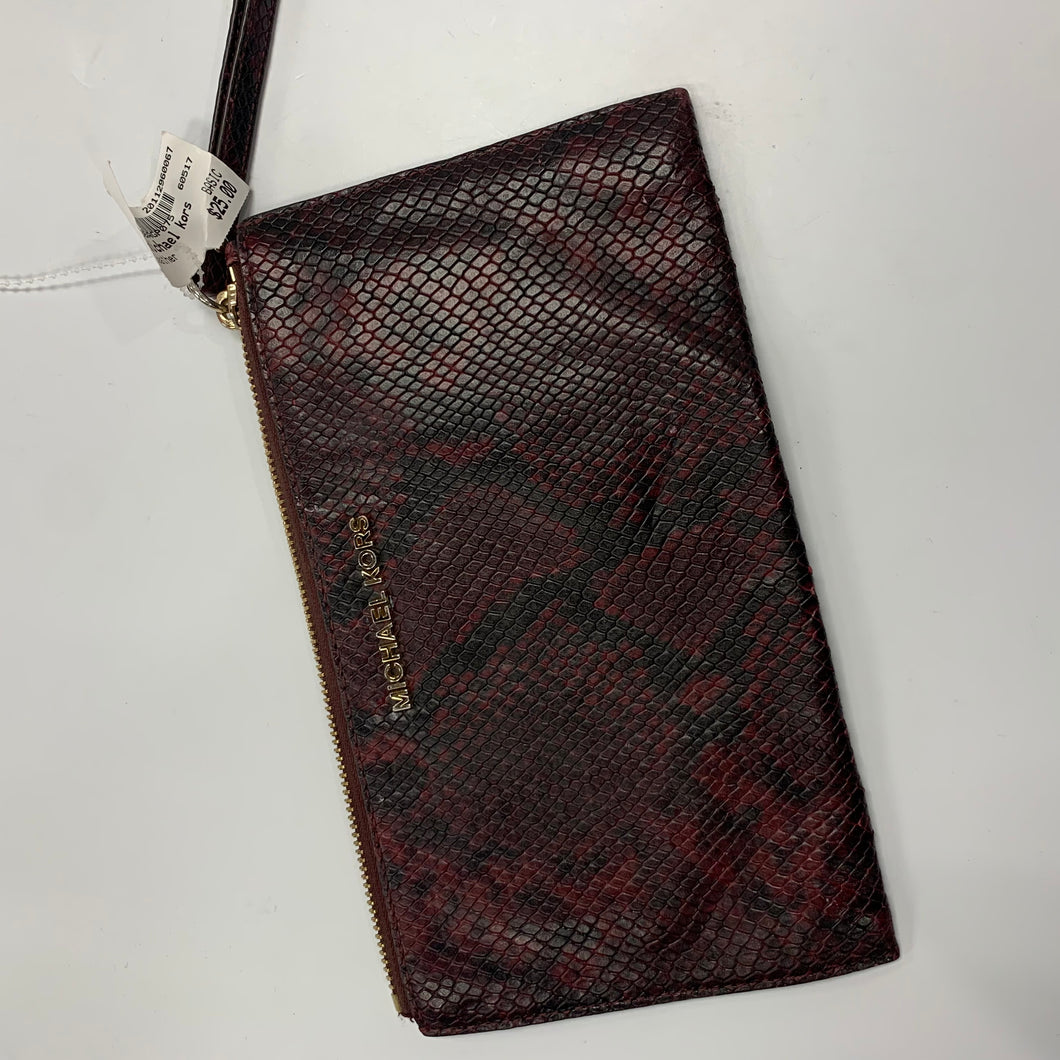 Michael Kors As Is Leather Wristlet