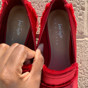 Lord & Taylor Red Flats Size 7