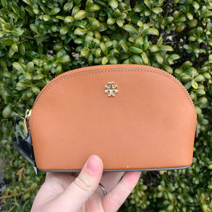 Tory Burch Leather cosmetic pouch
